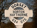 Horton, Haythorne finger-post detail - geograph.org.uk - 1741193.jpg