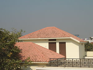Hip roof - A hip roof type house in Khammam city, India
