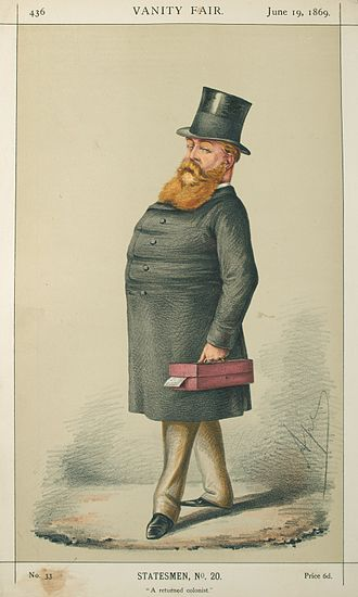 Hugh Childers - Caricature by Ape published in Vanity Fair in 1869.