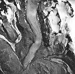 Hugh Miller Glacier, valley glacier terminus and glacial remnents, August 24, 1963 (GLACIERS 5478).jpg