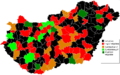 Hungarian Wikipedians Subregions 2012 December.png