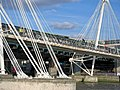 Hungerford Bridge and Golden Jubilee Bridges.jpg