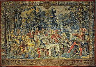 Coudenberg - Flemish tapestry of the Hunt of Maximilian (c. 1531)
