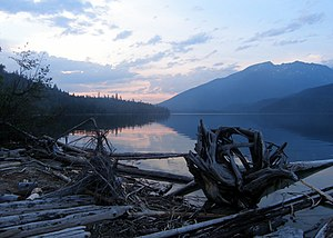 Wells Gray-Clearwater volcanic field - Clearwater Lake, a lava dammed lake in the Wells Gray-Clearwater volcanic field