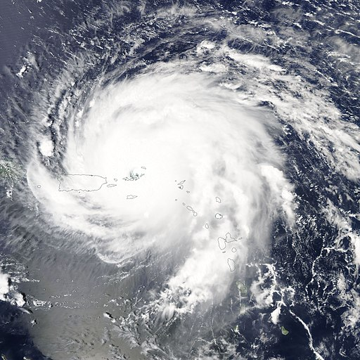 Hurricane Irma Aqua-MODIS 06Sep2017 over British Virgin Islands