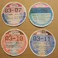 IRELAND 2006, 07, 09 and 10 -MOTOR VEHICLE TAX DISCS - Flickr - woody1778a.jpg