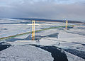 Ice forms in the Straits of Mackinac, underneath the Mackinac Bridge, near St 120124-G-JL323-038.jpg