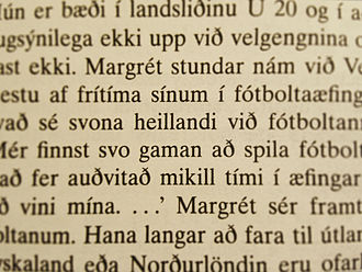 Acute accent - A sample extract of Icelandic.