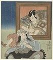 Ichikawa Ebizô VI in de rol van Kobôzu Donguri voor een portret van Ichikawa Danjûrô VII-Rijksmuseum RP-P-1958-473.jpeg