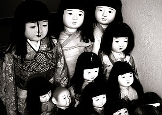 Ball-jointed doll - Asian ball-jointed dolls are influenced by Japanese traditional dolls, like Ichimatsu dolls (pictured)