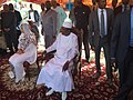 Idriss Deby Itno and Chadian First Lady waiting to vote 2016.jpg