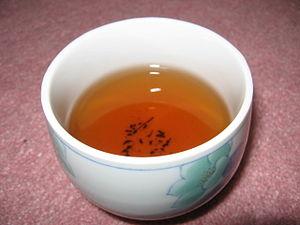 Hōjicha - A cup of hōjicha