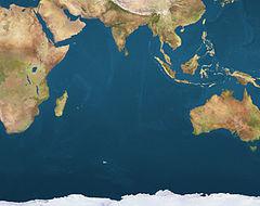 Amsterdam trên bản đồ Indian Ocean