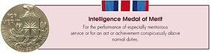 Intelligence Medal of Merit - Image: Intelligence Medal of Merit