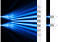 Interference electrons 2slits 10cm and 1cm.png