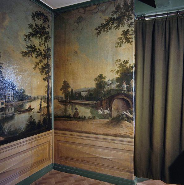 File:Interieur, woonkamer met geschilderd behang - Westzaan - 20375256 ...
