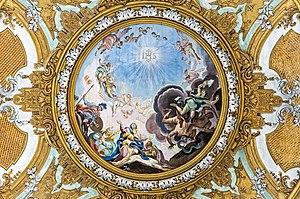 Ludovico Dorigny - Image: Interior of Chiesa dei Gesuiti (Venice) Ceiling of transept