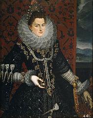 Retrato de la infanta Isabel Clara Eugenia por Pantoja_de_la_Cruz.