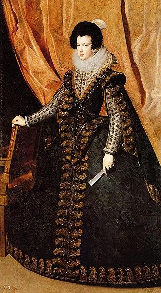 Isabel de Borbón, by Diego Velázquez