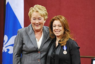Isabelle Boulay - Isabelle Boulay receiving the National Order of Quebec.