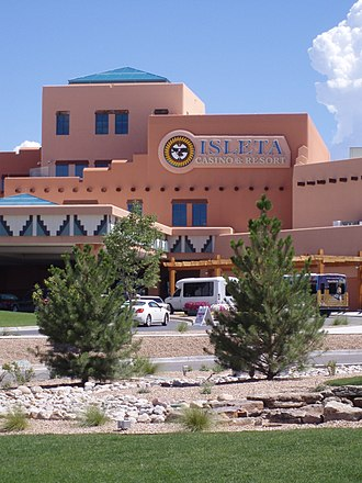 Pueblo of Isleta - Isleta Lakes Recreational Complex and tribal casino.