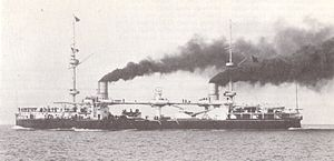 Italian ironclad Enrico Dandolo - Enrico Dandolo on 6 December 1898 after her reconstruction