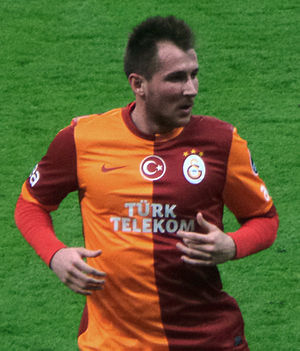 Izet Hajrović - Hajrović playing for Galatasaray in 2014
