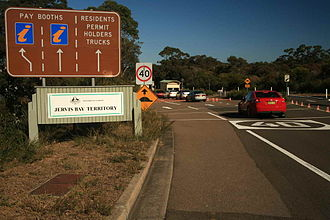 Jervis Bay Territory - Sign denoting the NSW/JBT Border