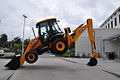 JCB 3CX backhoe loader, Florida, backhoe trick 3.jpg