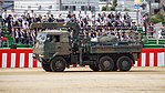 JGSDF FFRS UAV(007) with Type 73 Ougata Truck(30-0608) left front view at Camp Itami October 8, 2017 01.jpg