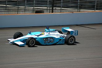 IndyCar Series - A Panoz GF09 Indycar Series chassis driven by Jaques Lazier during practice for the 2007 Indianapolis 500.