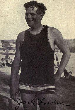 Jack London at Waikiki, 1915