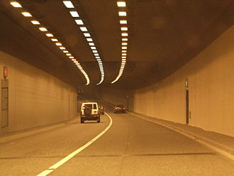 Jack Lynch Tunnel - The N40 through the interior of the southbound bore.