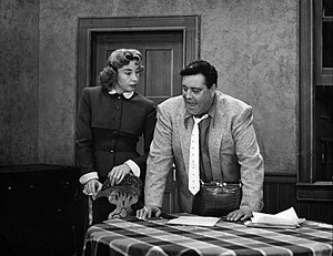 The Jackie Gleason Show - Gleason and Audrey Meadows as Ralph and Alice Kramden, 1956.