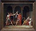 Jacques-louis david, bozzetto per il giuramento degli orazi, 1786.jpg