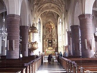 Saint James's Church, Stockholm - The nave.