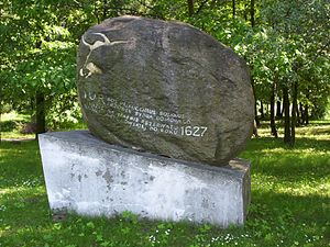 Jaktorów - Monument to the last aurochs