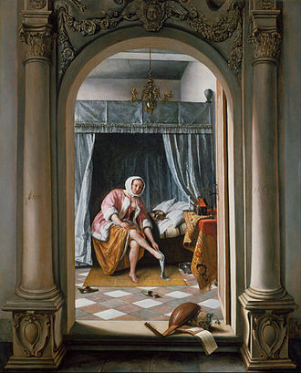 Jan Steen - Woman at her Toilet