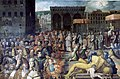Jan van der Straet Vasari - Venue de Léon X à Florence, Vers 1570.jpg