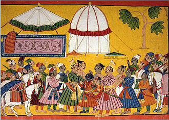 Janaka - Janaka welcoming Rama and his father Dasharatha in Mithila