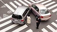 Japonya'nın başkenti Tokyo'da gerçekleşen bir trafik kazası