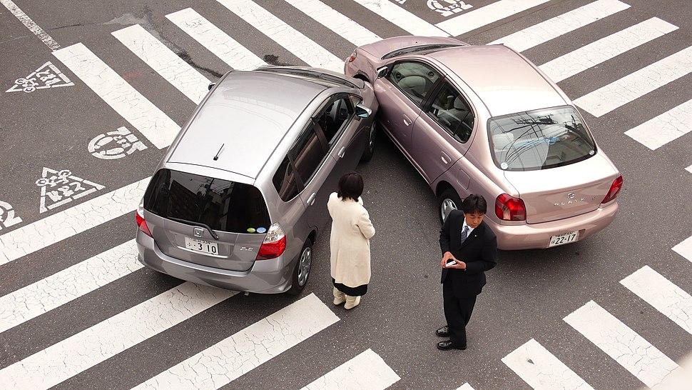 Japanese car accident