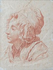 Drawing of a woman.