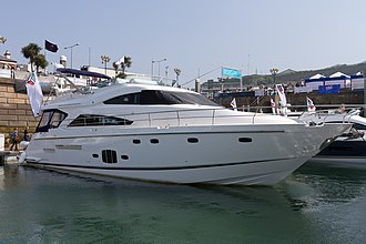 Fairline Boats - A Fairline Squadron at the 2011 Jersey Boat Show
