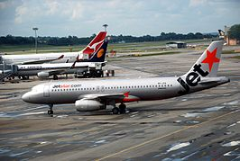 Een Airbus A320 van Jetstar Airways
