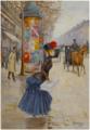 Jeune femme traversant le boulevard by Jean Béraud.png