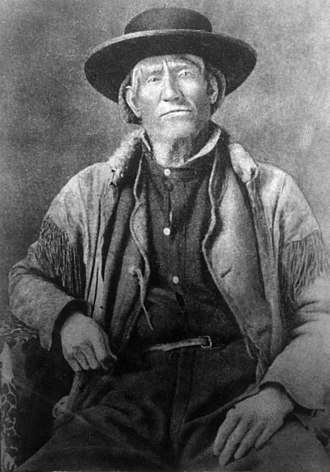 Guide - Famed mountain man Jim Bridger served as guide and army scout during the first Powder River Expedition in 1865 against the Sioux and Cheyenne in Dakota and Montana Territories