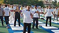 Jitendra Singh performing Yoga, on the occasion of the 4th International Day of Yoga 2018, in Jammu.JPG