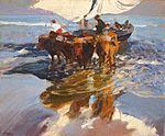 Joaquín Sorolla y Bastida - Vuelta de la Pesca, Playa de Valencia (1908).jpg