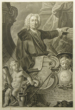 Johann Georg Bergmüller - Johann Georg Bergmüller, by Johann Jakob Haid (c.1755), after a work by Bergmüller